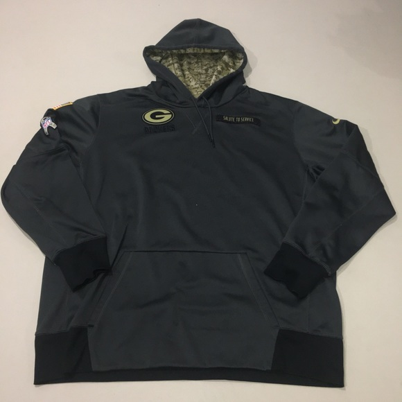 best website 799b4 ccccd NFL Green Bay Packers Salute to Service Hoodie XXL